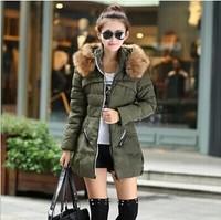 new 2014 fashion top quality thick women parkas winter jacket women winter coat women down & parkas 3 colors plus size
