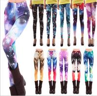 Women Casual American Apparel Galaxy Pants Black Milk Galaxy Leggings for Women Plus Size Print fitness Leggings Free Shipping