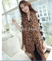Classic Design ! lU Style Leopard Scarf Scarves !Fahion Chiffon Shawl !Kerchief Lepoard!#AN200