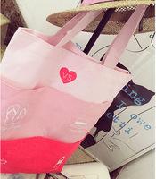 Promotion 2014 Hot Victoria  CarvesThe vs dimension multi bag lady splicing design beach bags graffiti leisure bag shopping bag
