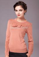 M32908 free shipping high end new design 100% authentic wool women sweatshirt