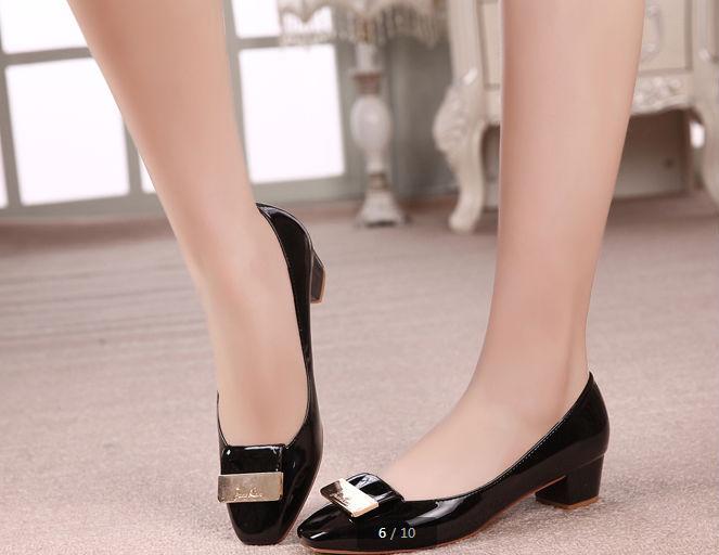 frete grátis primavera, outono e moda calçados femininos, quadrado rasas boca grossa documentário sapato com sapatos, sapatos de salto alto(China (Mainland))