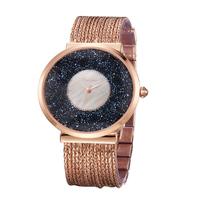 Lady Wrist Watch Quartz Hours Best Fashion woman Dress Bracelet Crystal Jewellry Brass Luxury Rhinestones Bling Gift 13047