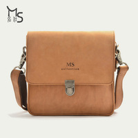 2014 Bolso Bolsa Handbag 2015 New 100% Genuine Leather Cowhide Bag for Men Simple Design Leisure Single Shoulder Crazy Horse