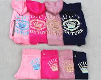 Children's Sportswear Velvet COUTURE Kids Tracksuits,Kids Velours Suits,Child Clothing  Set,Girl Suits Hoodies&Pants 4 Color