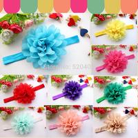 Lotus Flower Headband Toddler Infant Baby Floral Headband Girls Hair Accessories Hair Band 24pcs