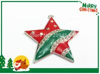 Newest ! 45mm 10pcs/lot Christmas Color Star Rhinestone Pendants