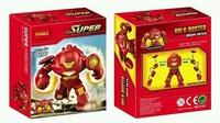 2pcs Decool 0181 Super Heroes Avengers Action Figures Building Blocks Minifigures Bricks Toys Big IRON MAN HULK BUSTER Figures