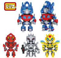 Puzzle toy diamond blocks Optimus Prime Hornet Galvatron Stinger free shipping block Children's toy building blocks