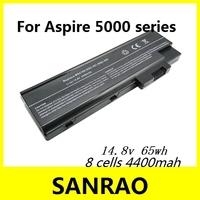 8 Cells 4400 mah 14.8v 65wh Laptop Battery for ACER Aspire 1410 1650 1681 3000 3510 5000 Extensa 2300 4100 6600 TravelMate 2300