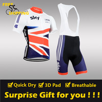 FREE SHIPPING/2014 England SK Short Sleeve Cycling Jersey and BIB Short/Bicycle/Riding/Cycling Wear/Clothing(accept customized)