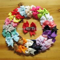 Free Shipping 20pcs/lot 2014 new Bow knot hair clips DIY handmade chiffon hair accessory baby girl hairgrip kids hairpin