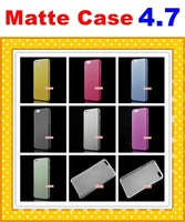 Colorful Slim Matte Anti Glare Anti-Glare Cover Case Skin Protective Guard For Apple IPhone 6 4.7'' IPhone6 Dull Polish Scrub