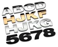 4cm personality DIY letters car emblems car metal modified alphanumeric/number emblems car decorative car logo sticker
