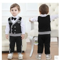 2014 new arrive kids gentleman clothing set children boys handsome autumn wear children clothing set children boys cloth