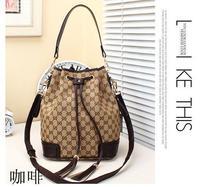Women Fashion  Canvas and Geniue Leather  Bag- 2 Ways Using Bag---  Brand Shoulder Bag