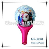 Frozen Handing Balloon, Mylar Balloon Handing Stick, Frozen Cartoon Design, 20pcs/lot, Holiday Party Birthday Supplies