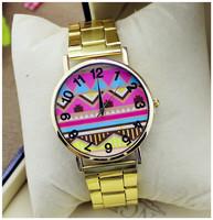 Hot Sale New Women Girls Ladies Graceful Lovely Metal Punk Chain Bracelet Watch Artificial Leather Quartz Wholesale Wristwatches