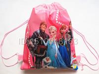 New Frozen Anna Elsa School Bags Backpack pink Drawstring Bags Children's School Bags kids' Shopping Bags Gift for Kids