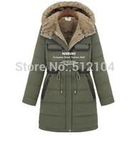 NEW European style women 's Cotton coats winter warm long coat jacket woman fashion 2014 Big yards clothing size S-XXL