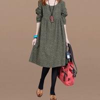 Autumn plus size clothing one-piece dress mm long-sleeve meat fluid vintage plus size plus size 200