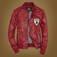 Men's Short Jacket male PU leather Coat Motorcycle Jackets male fashion modern upperwear slim