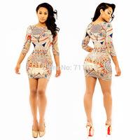 Better quality cozy women dress dot print dresses sheath bodycon dress clubwear
