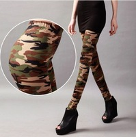 Hot!  2014 NEW PANTS LEGGINGS Europe and the United States Army Air Force camouflage nine minutes Of Pants Slim Women Leggings