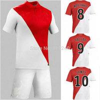 Customize! 14/15 season Monaco jersey top quality soccer uniforms (Jersey + shorts) Size S-M-L-XL