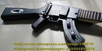 Cool Black Rosewood Fingerboard Basswood Top Side Back AK47 Strange Shape Silver Hardware 22 Frets Electric Guitar No.0035-134