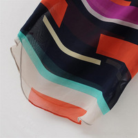 2014 new women's fashion color stripe snow spins unlined upper garment
