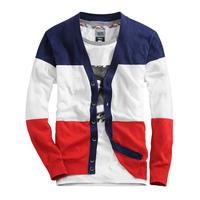 Men's Sweaters cardigan Men's patchwork set lovers sweater thin Outerwear slim Sweater male