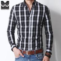 Men's business casual autumn shirt 100% cotton shirt male long-sleeve plaid shirt eleven colur six size
