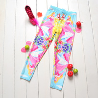 Drop Ship 2014 Cartoon Mirroring Princess Digital Printing Girl Pants School Child Leggings SportsPantFashion Blackmilk leggings