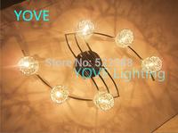 Aluminum Ceiling Lights Abajur Lustres De Sala Lamp Fashion Modern Ceiling Light LED Crystal Ceiling Lamp Living Room Lamps