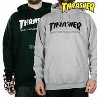 Thrasher hoodie skate mag logo skateboard sweatshirts hooded clothes fashion hip hop rock streetwear top quality
