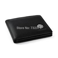 Car emblem 100% Leather Driver's license leather sheath / Driving License Bag for Volkswagen CC GOLF6 Santana vw Tiguan