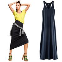 Spring and summer modal basic skirt female spaghetti strap tank dresses women
