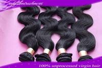 body wave human hair extension 4 pcs/lot 100% brazilian virgin human hair bundles can be dye hot selling hair
