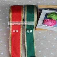 3.8cm christmas belt decoration gift packing christmas tree decoration gift bow christmas