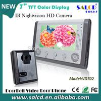 alibaba china ! 7 Inch IP video door phone Intercom system  Kit 1-camera 1-monitor Night Vision
