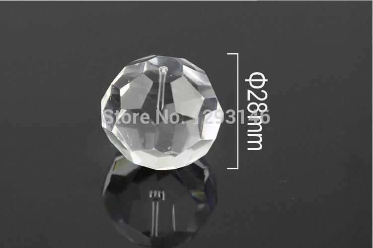 200pcs/lot Diameter 28mm diamond shape Pineapple Crystal Beads Optic Fiber Crystal Ending(China (Mainland))