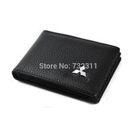 Car emblem 100% Leather Driver's license leather sheath / Driving License Bag for Mitsubishi Outlander Lancer-ex Pajero