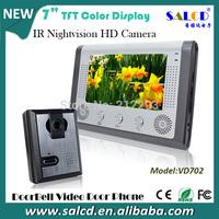 alibaba express ! 7 Inch  TCP IP video door phone Intercom system  Kit 1-camera 1-monitor Night Vision