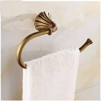Free Shipping! Classic Antique Brass Bathroom Towel Ring Towel Bar Wall Mount Bath Accessories
