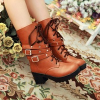 popular women 2014 single boots lady Martin boots Feamale spring autumn boots shoes woman brand boots EURO 35-39 Free shipping