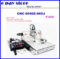 Free shipping ,Free taxes,  800W 4axis CNC Router , 3D engraving machine CNC6040 220V