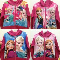 New 2014 Snow Romance Frozen Anna&Alsa Children Clothing Girls Coat Cotton Children Outerwear