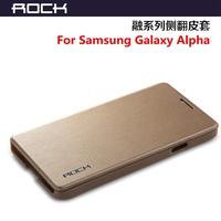 Rock High Quailty Eminent Series Flip Cover Case For Samsung Galaxy Alpha Free shipping