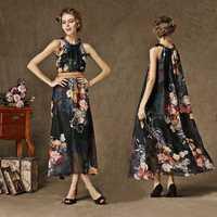 Plus size,Hot Sale 2014 Summer Fashion Slim Elegant Chiffon Tank Dresses Female Casual Brief Party Holiday Wear Free Belt